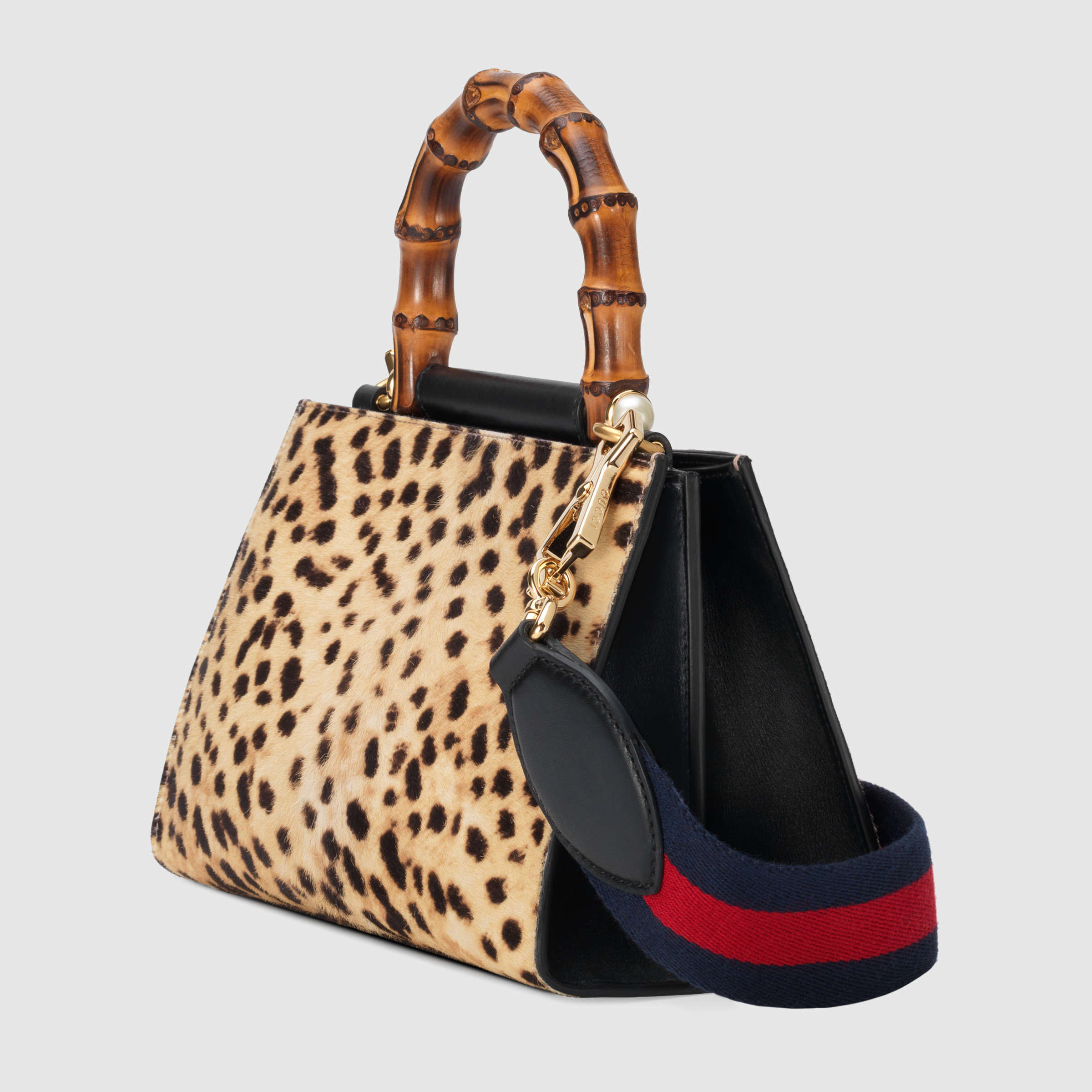 【グッチ】Gucci Nymphaea Leopard Print Mini Bag ハンドバッグ