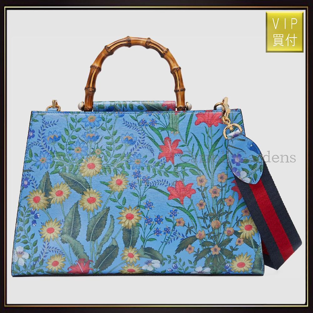 【グッチ】Gucci Nymphaea Medium Top Handle Bag ハンドバッグ