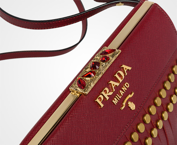 国内発関税込 2017-18AW PRADA Idol Saffiano Leather Bag