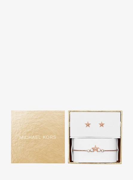 ギフトセット【Michael Kors】Star Slider Bracelet  Earrings