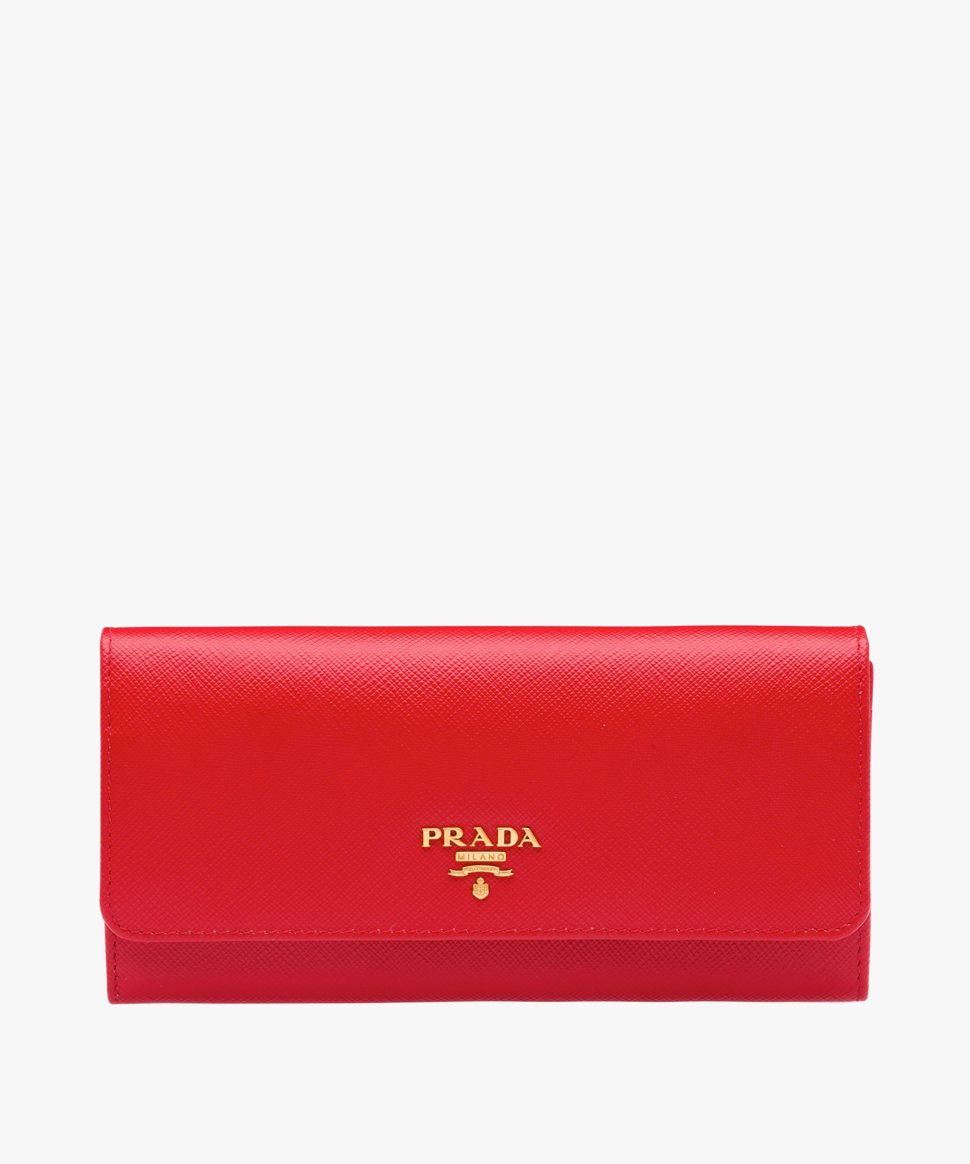 ●PRADA●冬新作♪Saffiano leather wallet♪2展開