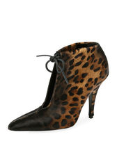 Leopard-Print Ankle-Tie 105mm Bootie レオパードブーティ