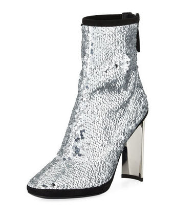 Stretch Sequin 105mm Bootie スパンコールブーツ