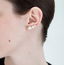 Saskia Diez(サスキアディツ) ピアス Saskia Diez☆3PEARL EARRINGS / silver