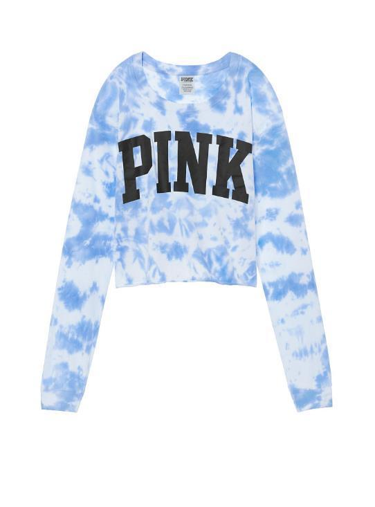 ◎送料込み◎ ★blue legend tie dye★Cropped Long Sleeve Tee