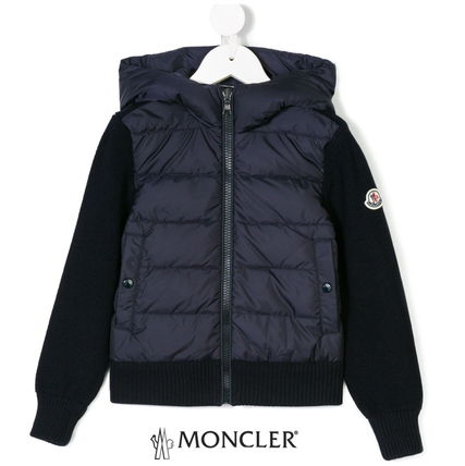 MONCLER キッズアウター 【確保済/即納】MONCLER Kids 異素材ダウンニットフーディ 4~6歳
