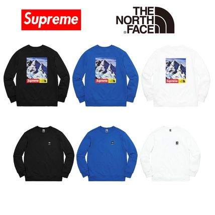 SUPREME THE NORTH FACE MOUNTAIN CREWNECK SWEATSHIRT S~XL