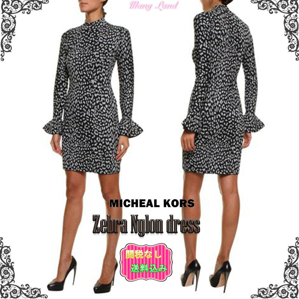 関税送料込★MICHAEL KORS★Zebra Nylon dress