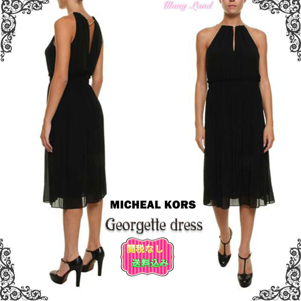 関税送料込★MICHAEL KORS★Georgette dress