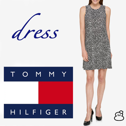 ★Tommy Hilfiger★アニマルプリントジャージーワンピース