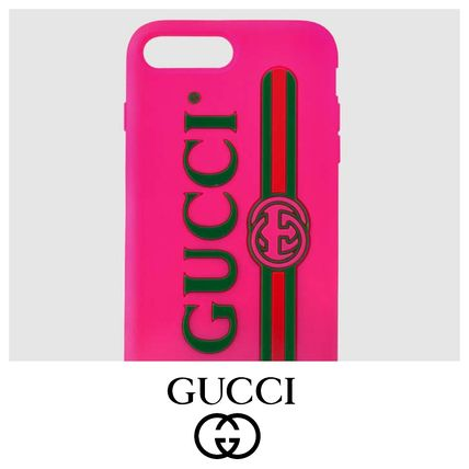 GUCCI ロゴ IPHONE 7 ケース ピンク