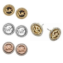 【Michael Kors】新作★送料込 Logo Pave Stud Earrings