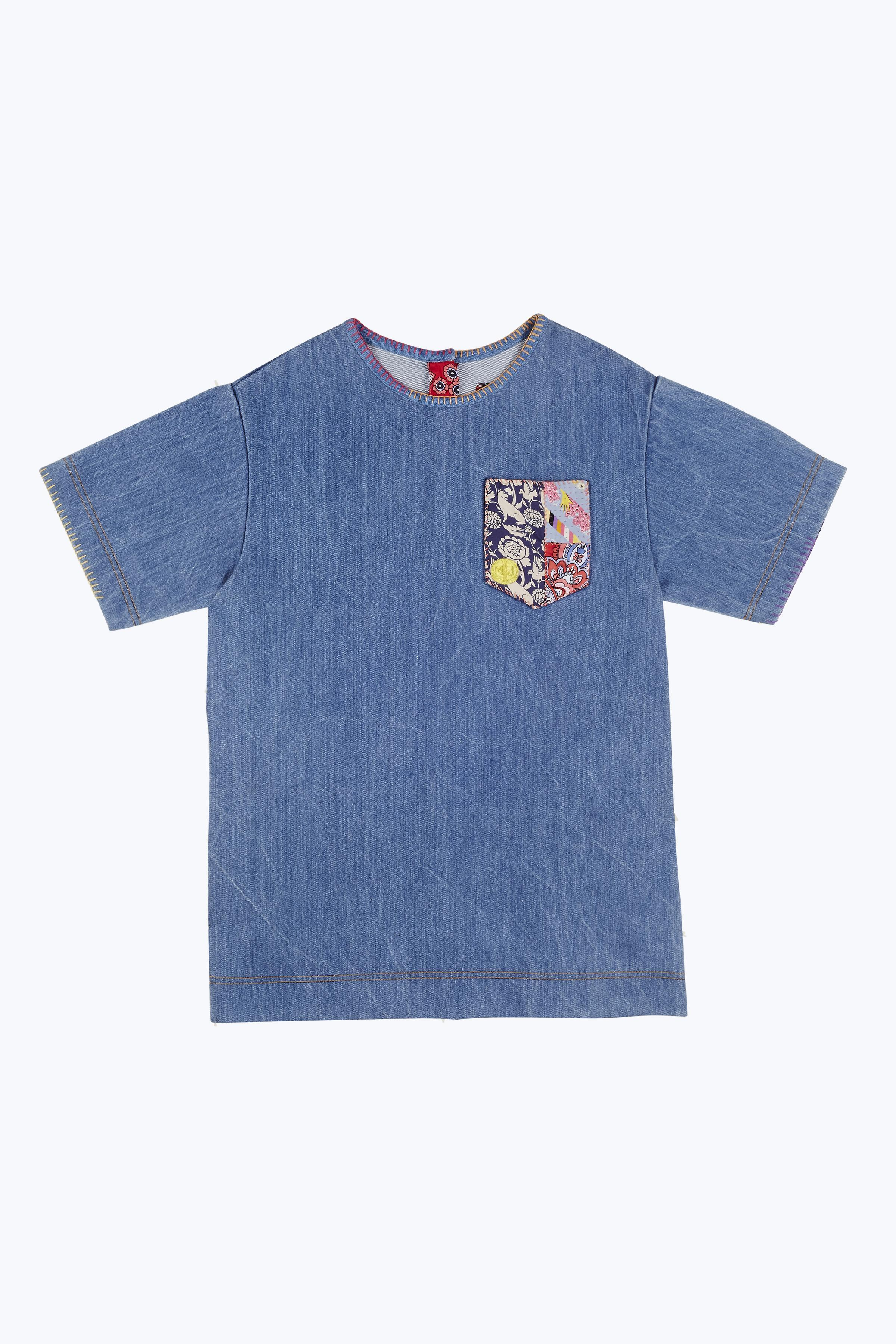 ★限定価格★MARC JACOBS/Denim T-Shirt Dress With Embroidery