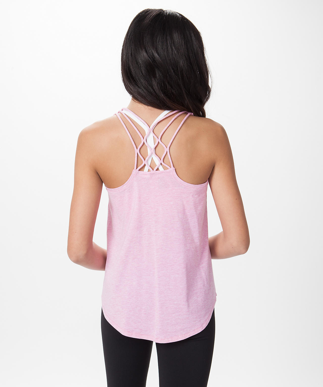 【 Quiet Moments Tank 】★ Heathered Pow Pink
