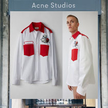 【17AW NEW】 Acne Studios_men/Seattle white/red/シャツWH