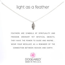 Dogeared(ドギャード) light as a feather ネックレス シルバー