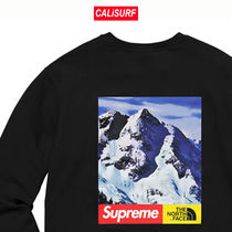 Mサイズ★Supreme/the north face/クルーネックsweatshirts/黒