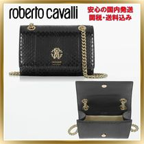 ◇ ROBERTO CAVALLI ◇ Shiny Elaphe Leather  【関税送料込】