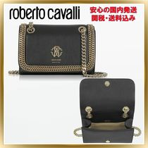 ◇ ROBERTO CAVALLI ◇ Leather Chain Shoulder 【関税送料込】