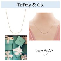 [Tiffany & Co] T smile pendant 18k gold