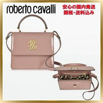 ◇ ROBERTO CAVALLI ◇Patent Leather Small Satchel 関税送料込