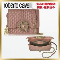 ◇ ROBERTO CAVALLI◇Star Quilted Leather Shoulder 関税送料込