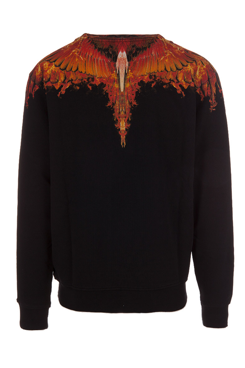 【安心の関税込】Marcelo Burlon Black Flame Wingトレーナー