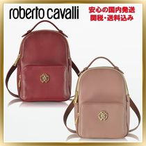 ◇ ROBERTO CAVALLI ◇ Small Leather Backpack 【関税送料込】