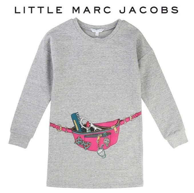 Little Marc Jacobs♪プリントワンピース・グレー・156㎝・17AW