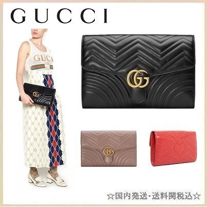 18SS 関税込み  GUCCI 'GG MARMONT 2.0' クラッチバッグ