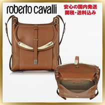 ◇ ROBERTO CAVALLI ◇Horn Walnut Leather Shoulder 関税送料込