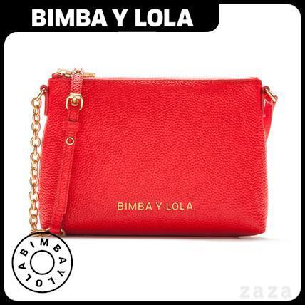 日本未入荷★BIMBA Y LOLA★Cherry leather envelope bag