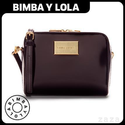 日本未入荷★BIMBA Y LOLA★Small aubergine crossbody bag