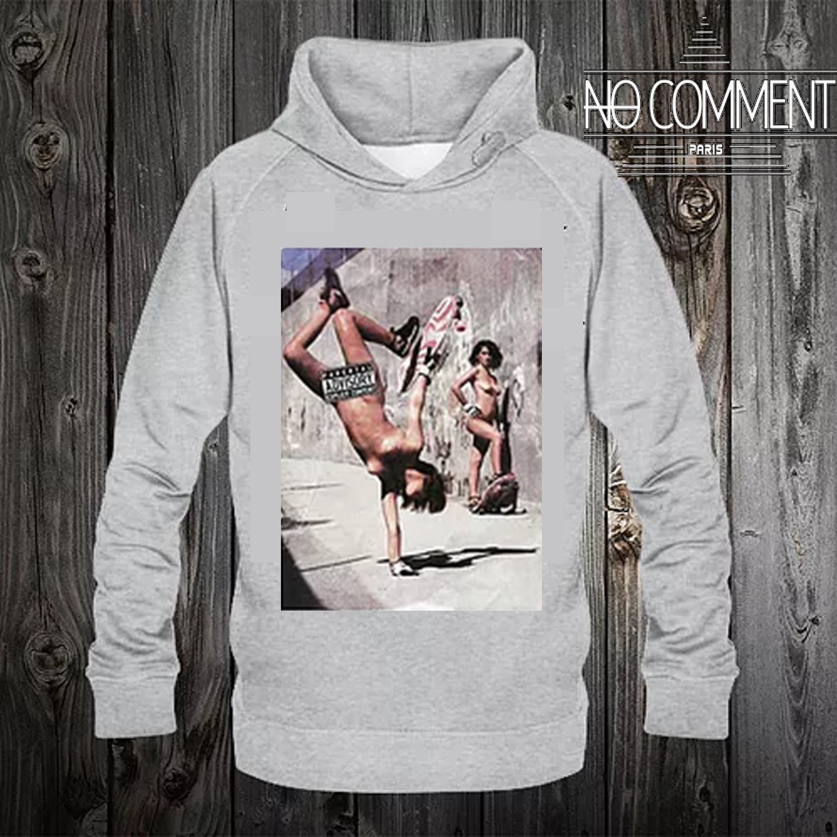 NO COMMENT Hoodies 【Rock-skate Sexy Girls】