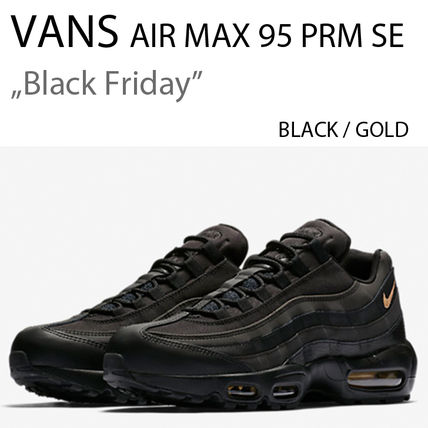 3dc01c5d08 Nike スニーカー NIKE AIR MAX 95 PREMIUM SE BLACK/ METALLIC GOLD エアマックス ...