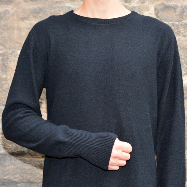 FIRST AID TO THE INJURED CRURA ASYMMETRIC LONG KNIT SWEATER