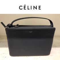 ★NEWカラー!大人気★ CELINE【TRIO BAG】Anthracite (ラージ)