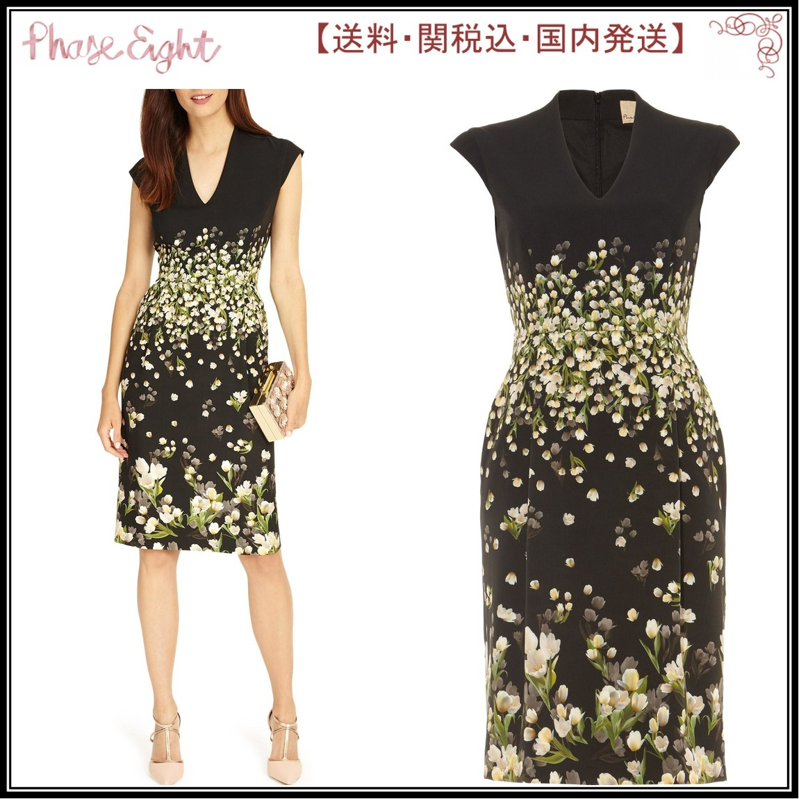 【関税込】PhaseEight ワンピース☆Melodie Floral Dress