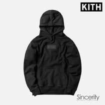 KITH CLASSIC LOGO HOODIE / TRIPLE BLACK / MEDIUM