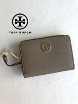 即発 TORY BURCH★ROBINSON ZIP COIN CASE*FRENCH GRAY