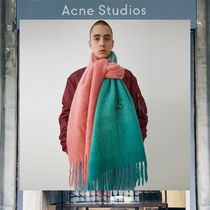 【17AW NEW】 Acne Studios_men/Kelow dye pink/mint/マフラーPK