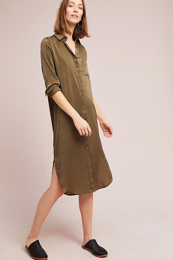 18SS☆最安値*関送込【Anthro】Batram Embroidered Shirtdress