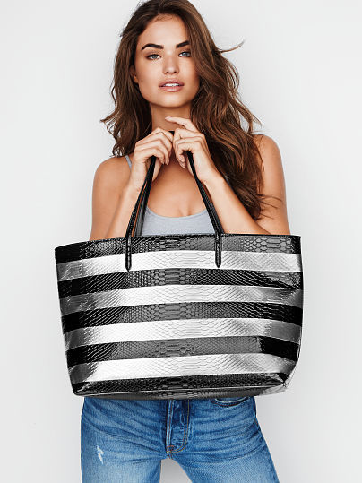 送料込み☆VS☆Luxe Python Stripe Everything Tote リュック