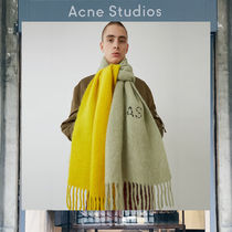 【17AW NEW】 Acne Studios_men/Kelow dye lemon/grey/マフラー