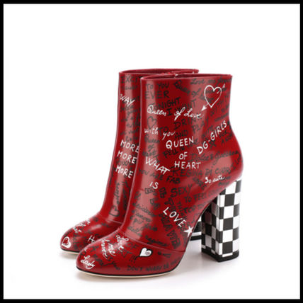 17-18AW 【DOLCE & GABBANA】 printed calfskin vally booties