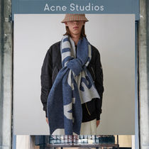 【17AW NEW】 Acne Studios_men/Toronty logo blue/マフラーBL