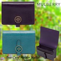 Mulberry☆Tree Card Holder Wallet-Embossed Lizard-リザード柄