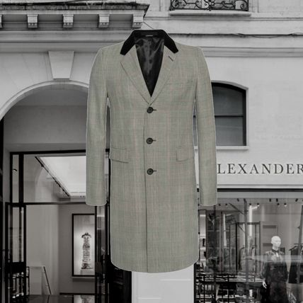 *Alexander McQueen*Prince of Wales Fitted Coat GRAY/BLACK