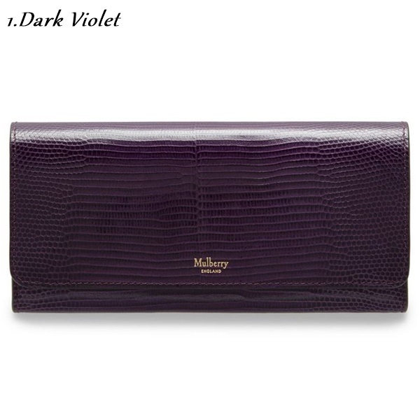 Mulberry☆Continental Wallet-Embossed Lizard-長財布-