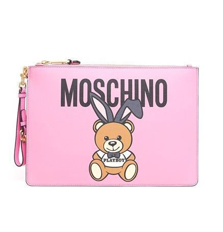 ◆◆VIP◆◆ Moschino   'Teddy Bear & PLAYBOY' クラッチ W32cm